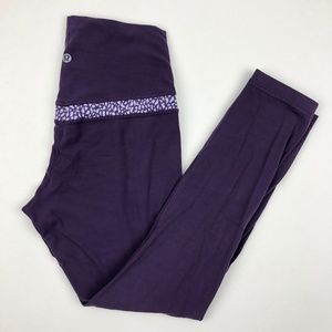 Lululemon Align Pant Deep Zinfandel/Miss Mosaic